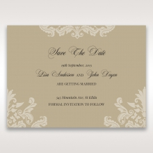 Golden Beauty save the date stationery card design