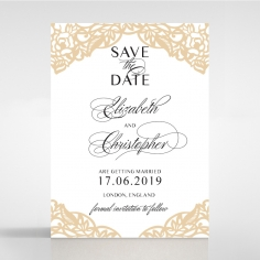 Golden Floral Lux save the date invitation stationery card item