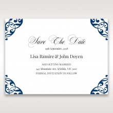 Graceful Ivory Pocket save the date wedding stationery card item