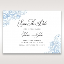 Graceful Wreath Pocket save the date invitation stationery card