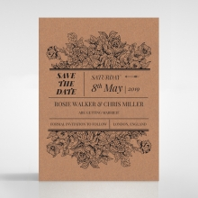 Hand Delivery save the date invitation stationery card item