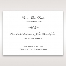 Heavenly Bouquet save the date stationery card