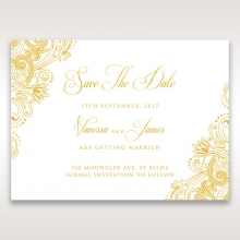 Imperial Glamour with Foil wedding save the date stationery card design