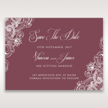 Imperial Glamour without Foil wedding save the date stationery card design