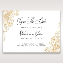 Imperial Glamour without Foil wedding save the date stationery card item