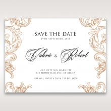 Imperial Pocket save the date invitation card
