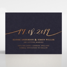 Infinity wedding save the date stationery card