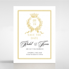 Ivory Doily Elegance save the date wedding card