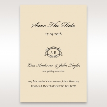 Ivory Victorian Charm save the date invitation stationery card item