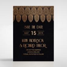 Jeweled Ikat save the date wedding stationery card item