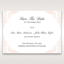 Laser cut Bliss save the date card