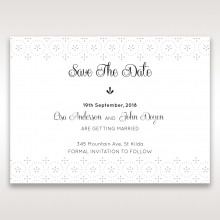 Laser Cut Button save the date stationery card item