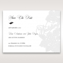Laser Cut Floral Wedding save the date card design