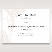 Laser cut Peacock Feather save the date stationery card design
