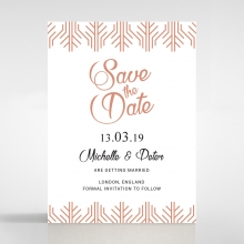 Luxe Rhapsody save the date card design