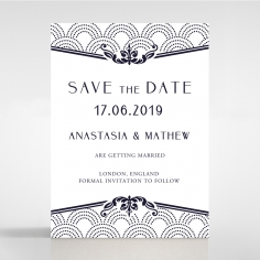 Luxe Victorian save the date card design