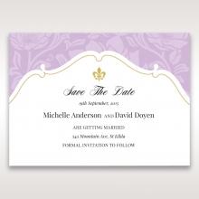 Majestic Gold Floral save the date invitation card design