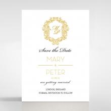 Modern Crest save the date invitation stationery card design