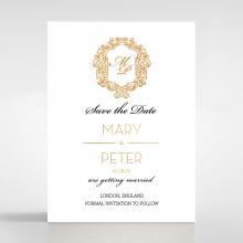 Modern Crest save the date invitation stationery card item