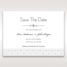 Modern Sparkle save the date card design