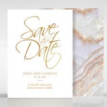 Moonstone save the date invitation card design