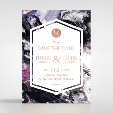 Mulberry Mozaic  with Foil save the date stationery card