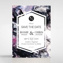 Mulberry Mozaic wedding save the date stationery card design