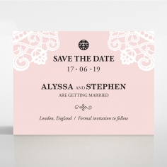 Oriental Charm save the date card design