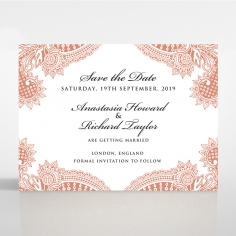 Paisley Grandeur wedding stationery save the date card design