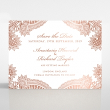 Paisley Grandeur wedding stationery save the date card item