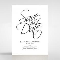 Paper Diamond Drapery save the date invitation stationery card design