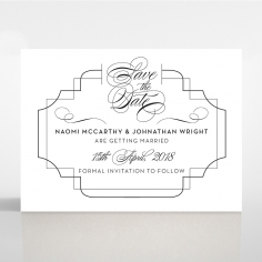 Paper Regal Enchantment save the date wedding stationery card