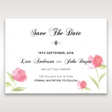 Petal Perfection wedding save the date card