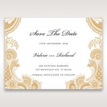 Prosperous Golden Pocket save the date invitation stationery card item