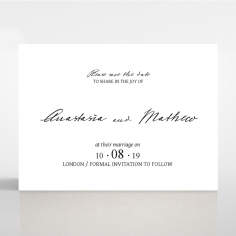 Pure Charm wedding save the date card design