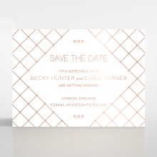 Quilted Grace wedding stationery save the date card item