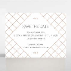 Quilted Grace save the date wedding card