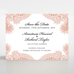 Regal Charm Letterpress save the date stationery card item