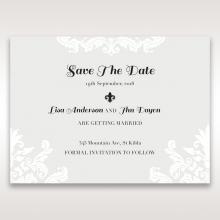 Regal Romance wedding save the date card