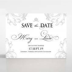 Regally Romantic save the date invitation stationery card design