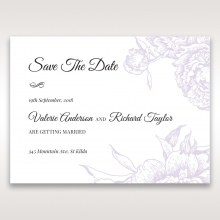 Romantic Rose Pocket save the date invitation stationery card design