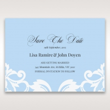 Romantic White Laser Cut Half Pocket save the date invitation card