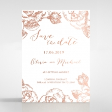 Rose Garden save the date invitation card design