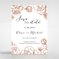 Rose Garden save the date wedding card