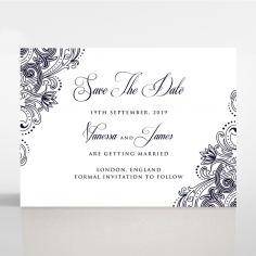Royal Embrace save the date wedding card