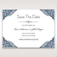 Royal Frame save the date stationery card design