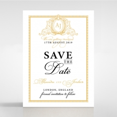 Royal Lace save the date wedding stationery card item