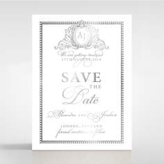 Royal Lace with Foil save the date wedding stationery card item