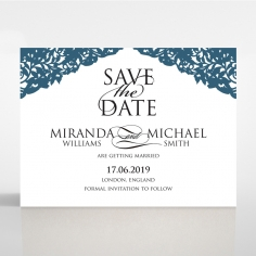 Royal Prestige save the date invitation stationery card design