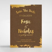 Rusted Charm save the date stationery card
